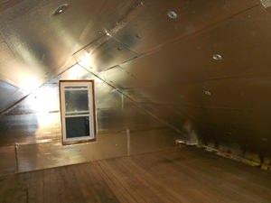 A Green Bay attic with SuperAttic installed.