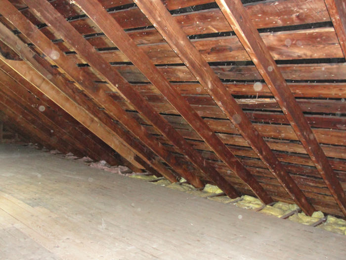 attic in house. a northeast wisconsin attic before installation of superattic in house