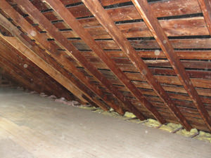 A Northeast Wisconsin attic before installation of SuperAttic