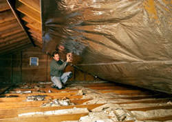Radiant Barrier Attic Insulation in a Northeast Wisconsin home