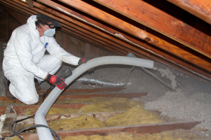 Blown insulation in green bay depere allouez ne wi for Fiberglass blowing wool insulation